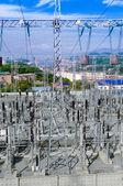 Les lignes de transmission de sous-station et puissance. — Photo