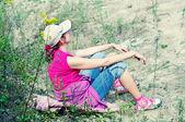 Girl is relaxing — Stock Photo