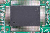 Close-up of computer chip with rear view. — Stock Photo
