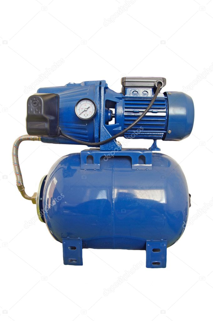 automatic water pump in the basement stock photo papa1266