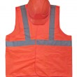 Yellow high visibility vest and protective helmet — Stock Photo