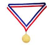 Medalla de oro en blanco — Foto de Stock