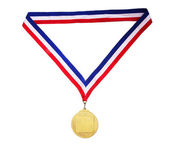 Puste złoty medal — Zdjęcie stockowe