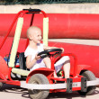Child on go cart — Stock Photo