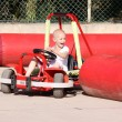 Stock Photo: Child on go cart