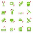 Wireless devices icons - green-red series — Stock Vector #6909707