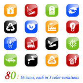 Environmental icons - color series — Stock Vector