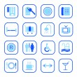 Royalty-Free Stock Immagine Vettoriale: Hotel icons - blue series