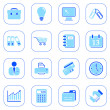 Business icons - blue series — Stock Vector