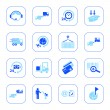 Logistics icons - blue series — Stock Vector
