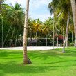 Volleyball court in island resort — Stock Photo