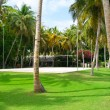 Volleyball court in island resort — Stock Photo #7950064