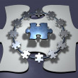 Teamwork - Puzzle - Ring - Stockfoto