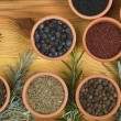 Stock Photo: Spices and herbs