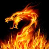 火のドラゴン — ストックベクタ