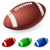 Realistic American football — Stock Vector