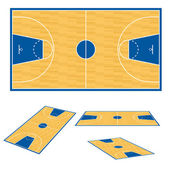 Basketball court floor plan. — Stock Vector