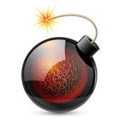 Bomba de dibujos animados — Vector de stock