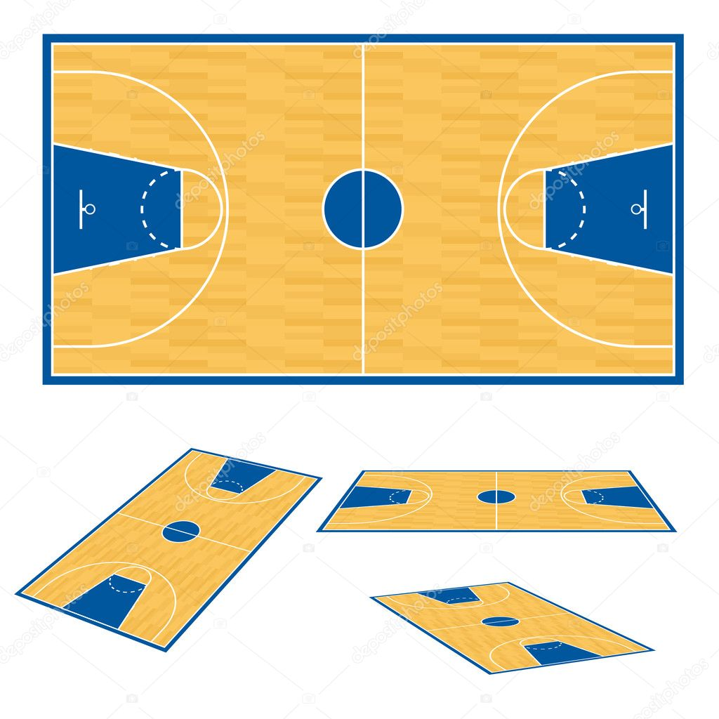 Basketball Gym Floor Plans http://depositphotos.com/6908486/stock-illustration-Basketball-court-floor-plan..html