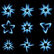 Stock Vector: Set of different stars icons