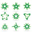 Set of different stars icons — Stock Vector