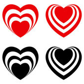 Abstract Valentine heart set — Stockvector