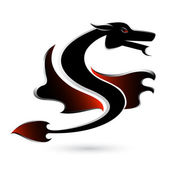 Abstract black dragon — Stock Photo