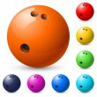 Set of bowling balls - Stock Vector