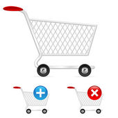 Empty shopping cart — Stock Vector