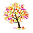 Stylized apple tree — Stock Vector