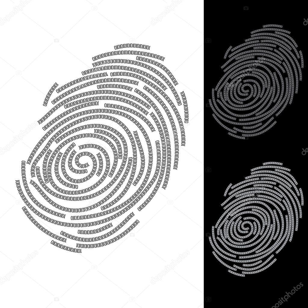 指纹— 图库矢量图像08