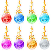 New Christmas decorations — Stock Vector