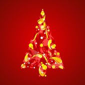 Abstract Christmas Tree — Stockvektor