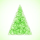 Abstract Christmas Tree — Vector de stock