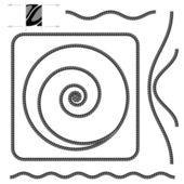 Abstrait corde beige — Vecteur