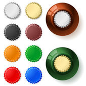 Multicolored bottle cap — Stock Vector