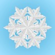 White paper snowflake — Stock Vector #7785392