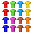 Stock Vector: Bright colored shirts