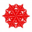 Red paper snowflake — Stock Vector