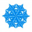Blue paper snowflake — Stock Vector