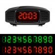 Radio alarm clock — Stockvectorbeeld