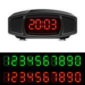 ラジオ付き目覚まし時計 — ストックベクタ