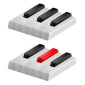 Black and white piano keys — Stock Vector