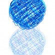 Royalty-Free Stock Vector Image: Scribble ball