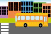 Bus van de school — Stockvector