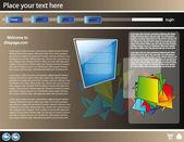 Web site 3d design template 19 — Stock Vector