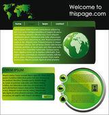 Modello di sito web 14 — Vettoriale Stock