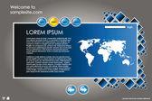 Website design vorlage 15 — Stockvektor