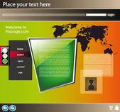 Web site design template 21 — Stock Vector