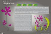 Web サイト デザイン テンプレート 22 — ストックベクタ
